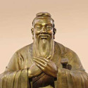 A sculpture of ancient philosopher and educator Confucius unveiled by the China Confucius Foundation is displayed in Qufu, east China's Shandong province September 23, 2006. The China Confucius Foundation is the main authority on matters related to Confucius. With the sculpture, the foundation aims to give the philosopher a standard, recognizable identity around the world, China Daily reported. Picture taken September 23, 2006. CHINA OUT  REUTERS/China Daily (CHINA)
